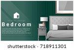 interior design with modern... | Shutterstock .eps vector #718911301