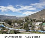 panoramic view of the city of... | Shutterstock . vector #718914865