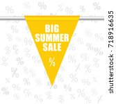 big summer sale icon in yellow... | Shutterstock .eps vector #718916635