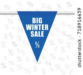 big winter sale icon in blue... | Shutterstock .eps vector #718916659