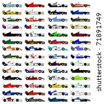 many designs racing cars open... | Shutterstock .eps vector #71891749