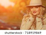 close up of beautiful elegant... | Shutterstock . vector #718919869