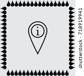 map pointer with information... | Shutterstock .eps vector #718919941
