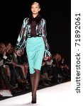 Small photo of NEW YORK - FEBRUARY 14: Top model Sigrid Agren walks the runway at the Carolina Herrera Fall 2011 Collection presentation during Mercedes-Benz Fashion Week on February 14, 2011 in New York.