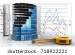 3d illustration of office... | Shutterstock . vector #718922221