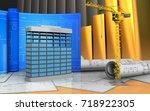 3d illustration of building... | Shutterstock . vector #718922305