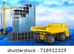 3d illustration of modern... | Shutterstock . vector #718922329
