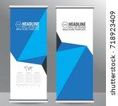 roll up business brochure flyer ...   Shutterstock .eps vector #718923409