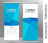 roll up business brochure flyer ... | Shutterstock .eps vector #718923511