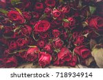 red roses flowers abstract... | Shutterstock . vector #718934914