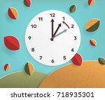 day light savings time end ... | Shutterstock .eps vector #718935301
