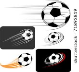 Set Of Soccer Balls  In Vector...