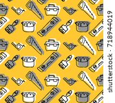 vector seamless hand drawn... | Shutterstock .eps vector #718944019