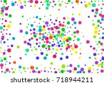 watercolor rainbow colored... | Shutterstock . vector #718944211