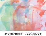 abstract multicolored... | Shutterstock . vector #718950985