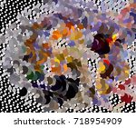 abstract background. spotted... | Shutterstock .eps vector #718954909