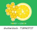 honey   lemon  vector... | Shutterstock .eps vector #718965727