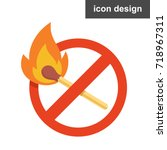 stop fire icon | Shutterstock .eps vector #718967311