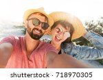 close up portrait of successful ... | Shutterstock . vector #718970305