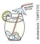 holiday mood | Shutterstock .eps vector #718971751