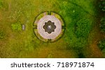 top view of the lawn in the... | Shutterstock . vector #718971874