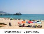 malibu  los angeles. 13 th... | Shutterstock . vector #718984057