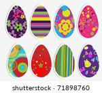 color eggs set | Shutterstock .eps vector #71898760
