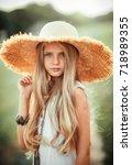 close up portrait of a... | Shutterstock . vector #718989355
