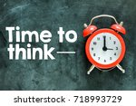 time to think concept | Shutterstock . vector #718993729