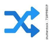 random arrow | Shutterstock .eps vector #718998019