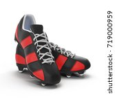 outdoor soccer cleats shoes on... | Shutterstock . vector #719000959