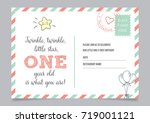 twinkle  twinkle  little star ... | Shutterstock .eps vector #719001121