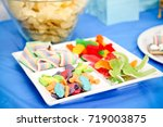 sweet and sour gummy candies... | Shutterstock . vector #719003875
