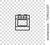 stove with oven vector icon | Shutterstock .eps vector #719012107