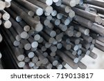 round rolled steel stored in... | Shutterstock . vector #719013817