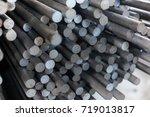 round rolled steel stored in... | Shutterstock . vector #719013817