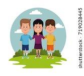 kids at park   Shutterstock .eps vector #719028445