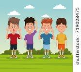 kids at park | Shutterstock .eps vector #719028475