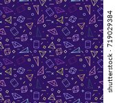 geometric seamless pattern.... | Shutterstock . vector #719029384