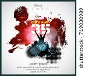 big party  dancing people   Shutterstock .eps vector #719030989