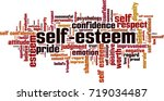 Self Esteem Word Cloud Concept...