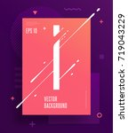 cool abstract alphabet poster... | Shutterstock .eps vector #719043229