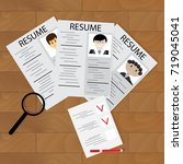 selecting job  hiring. resource ... | Shutterstock . vector #719045041