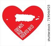 pray for puerto rico... | Shutterstock .eps vector #719046925