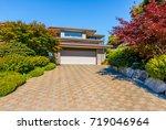 garage  garage doors and...   Shutterstock . vector #719046964