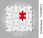 illustration of white puzzle... | Shutterstock . vector #719048011