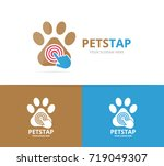 vector paw and click logo... | Shutterstock .eps vector #719049307