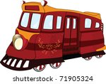 fantastic tram. cartoon | Shutterstock . vector #71905324
