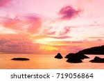 glowing paradise magnificent... | Shutterstock . vector #719056864