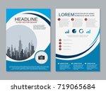 modern business two sided flyer ... | Shutterstock .eps vector #719065684